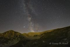 Via Lattea - Nucleo galattico ripreso nel Parco Nazionale della Majella, posa singola di 30 sec