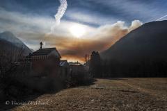 Smoke over valley, Valganna