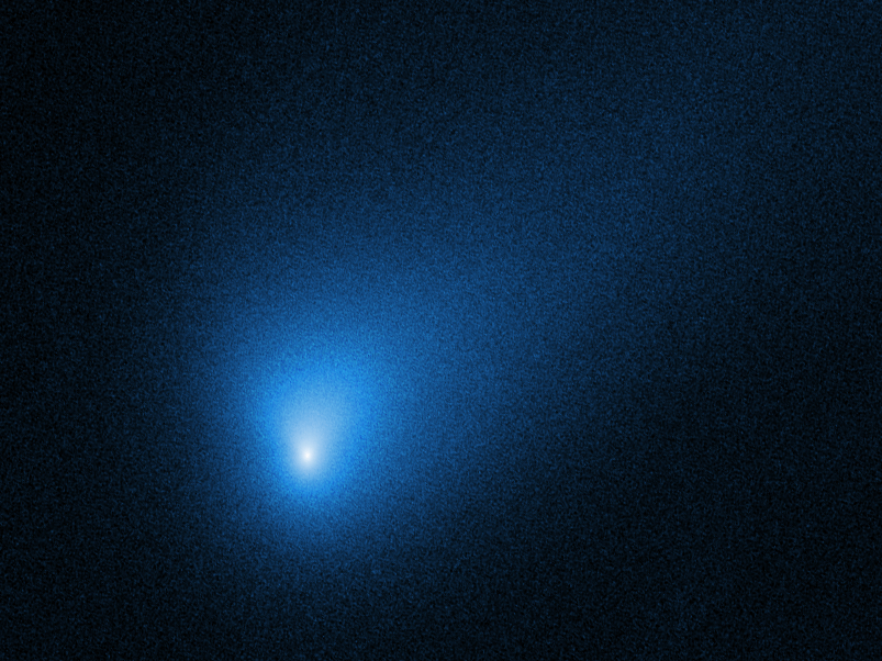 cometa interstellare 2I/Borisov, ripresa dall'Hubble Space Telescope